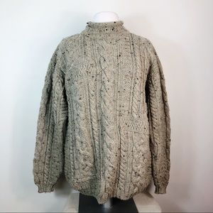 Quill's Vtg Wool Cable Knit Fishermen's Sweater